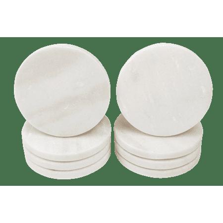Kozy Kitchen Coaster Set, Premium Marble Coasters, Double-Polished Multi-functional Drink Coasters, 100% Natural Marble Stone, Set of (Coaster Kitchen)