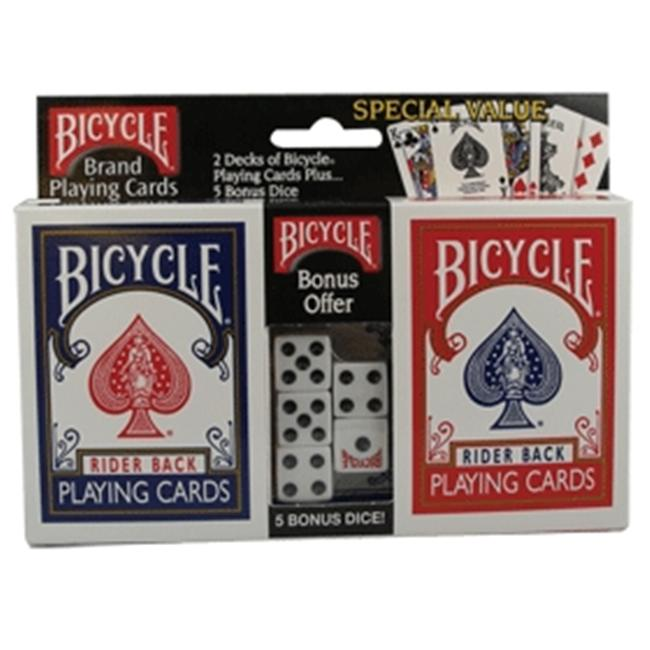 U. S.  Playing Cards Poker Playing Cards with Dice 808-02-DICE Pack Of 12