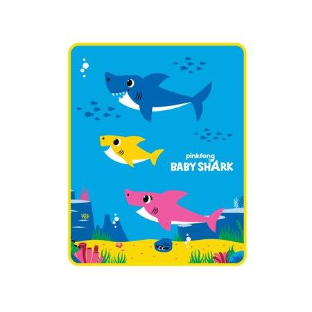 Baby Shark Kids Silky Soft Throw, 40 x 50, Shark Party