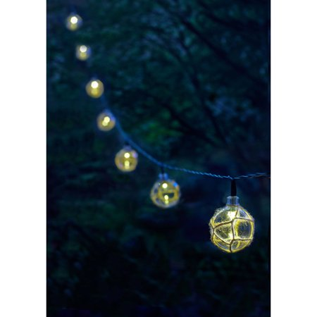 Moonrays 91130 Solar Powered LED Buoy String Lights, White - Best String Lights