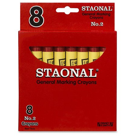 Staonal General Marking Crayons, Red, Perfect for classroom and group activities By Crayola](Red Crayon)