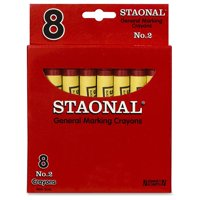 Staonal General Marking Crayons, Red, Perfect for classroom and group activities By Crayola