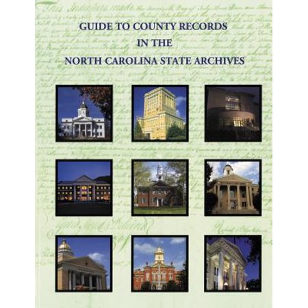 Guide to County Records in North Carolina State