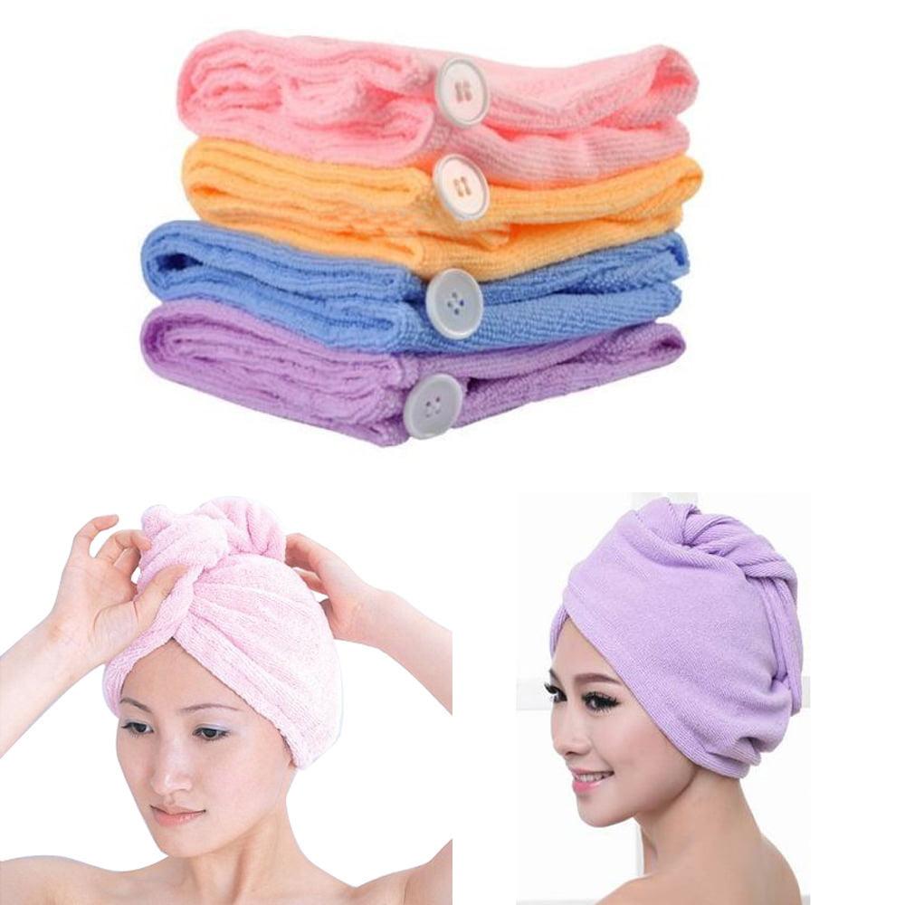 Two Quick Dry Head Wraps Microfiber Hair Towel Wrap Turban