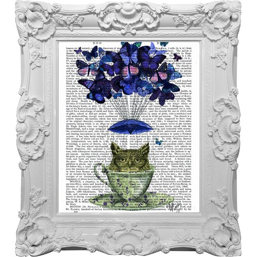 Empire Art Direct Funky Fab and Chic ''Tea for One'' Framed Graphic Art on Canvas