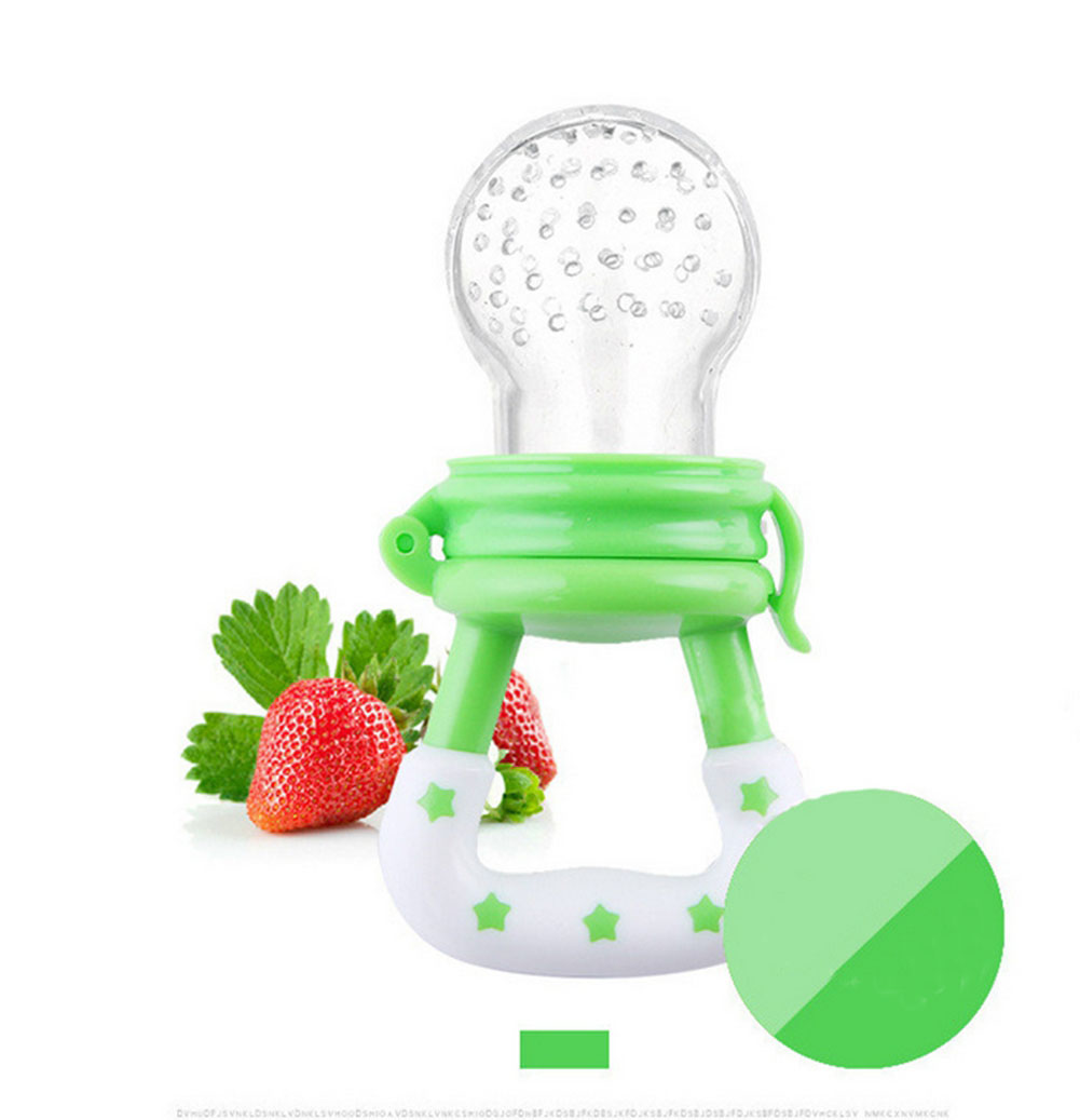 Cute Silicone Baby Fresh Fruits Food Feeder Pacifier Tool for Baby Toddler Style:As shown