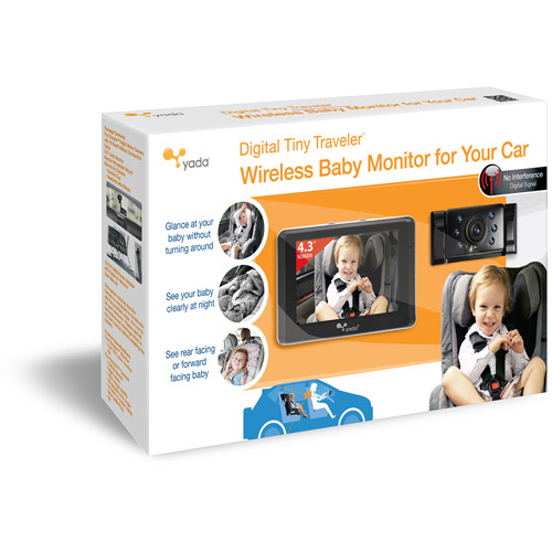 Yada Digital Tiny Traveler Wireless Video Baby Monitor for Car, BT53901F-2