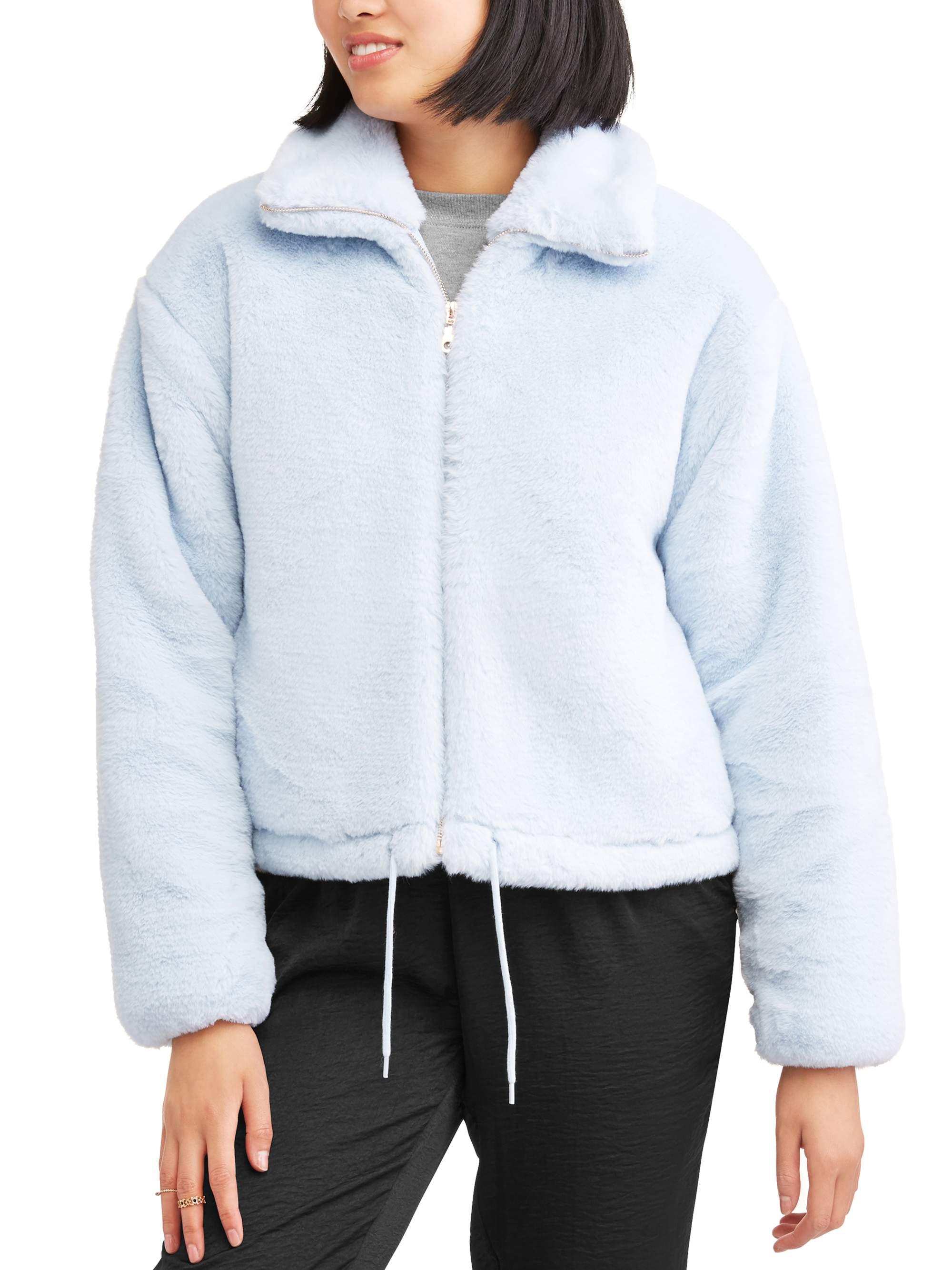 BHIP Juniors' Cozy Faux Fur Zip Front Jacket