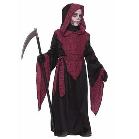 Horror Black & Red Grim Reaper Death Ghoul Robe Halloween Costume