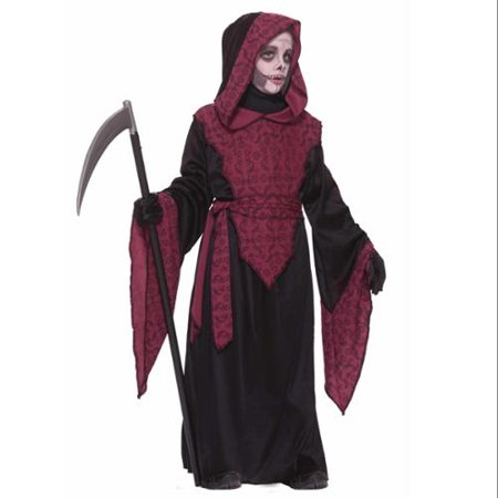 Horror Black & Red Grim Reaper Death Ghoul Robe Halloween Costume - Halloween Horror Sounds Effects