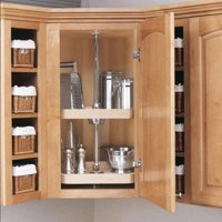 Rev-a-Shelf Wood D Shaped 2 Shelf Lazy Susan by Oharco Distributors Inc