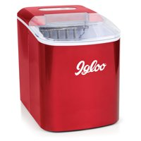 Igloo 26 lb. Capacity Countertop Ice Maker ICEB26RR, Retro Red