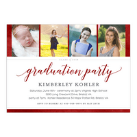 Looking Back Graduation Invitation
