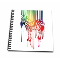 3dRose Zebra Barcode Colorful Melting Silhouette - Mini Notepad, 4 by 4-inch