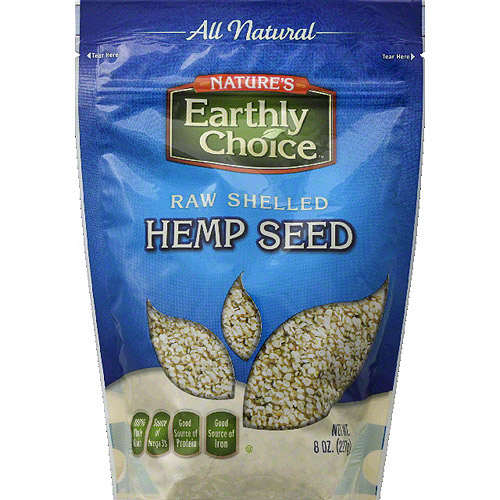 Nature's Earthly Choice Raw Shelled Hemp Seed, 8 oz, (Pack of 6)