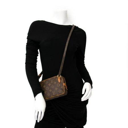 63d8b670f53a Louis Vuitton - Pochette Marly Bandouliere 865933 Brown Monogram Canvas Cross  Body Bag - Walmart.com