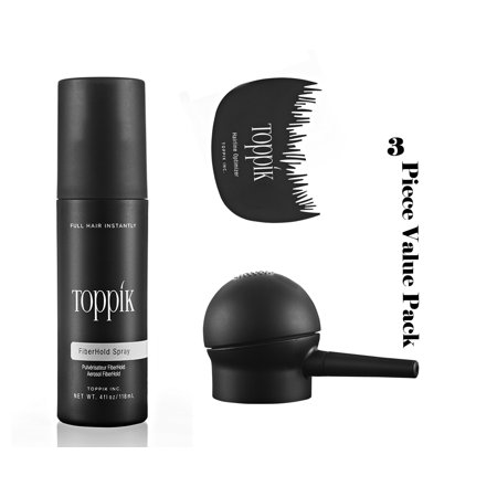 TOPPIK 3 Piece Value Pack Hair Perfecting Tool Kit.Comb+Applicator+Spray 1pack