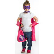 Superhero Girl Drawstring Backpack Dress Up Set