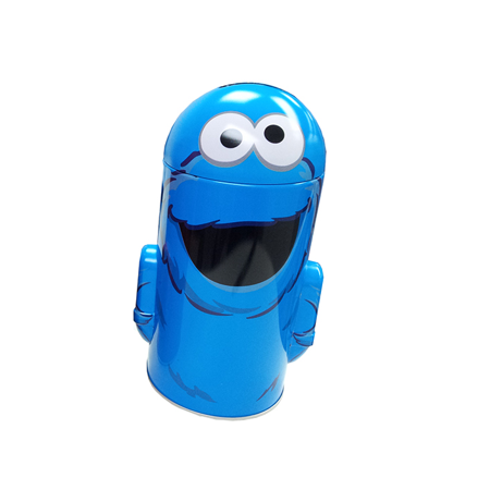 Round Coin Bank - Sesame Street - Cookie Monster New Tin Metal - Sesame Street Figures Set