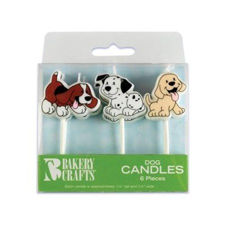 - 6 pc Puppy Dog Cake Candles