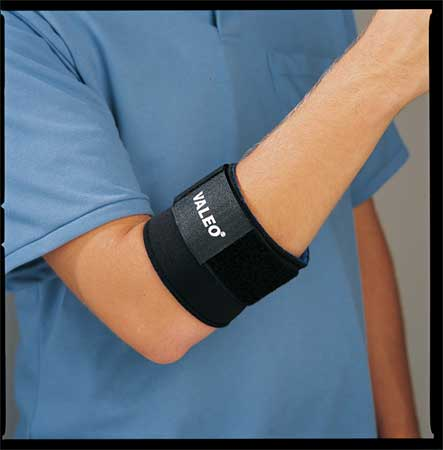 VALEO VA4543XLWWGL Elbow Support, XL, Black, Single Strap