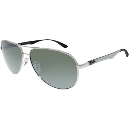 05c27995d09 Ray-Ban Men s Mirrored Tech RB8313-003 40-61 Silver Aviator Sunglasses ...
