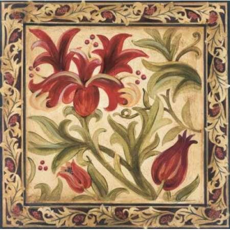 Floral Daydream I Rolled Canvas Art - Liz Jardine (12 x 12)