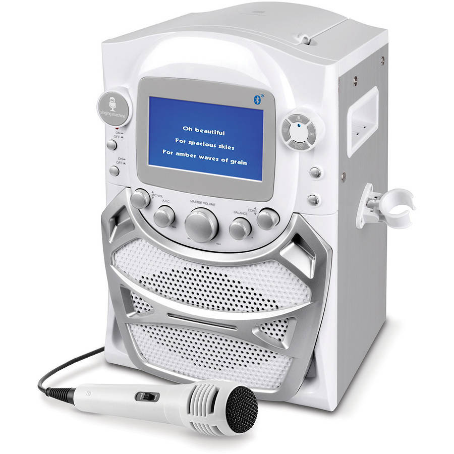 """Singing Machine CD+G Karaoke Bluetooth System with Built-In 5"""" Color TFT Monitor and Microphone"""