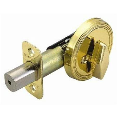 Single Sided Deadbolt, Adjustable Backset, Polished Brass Finish