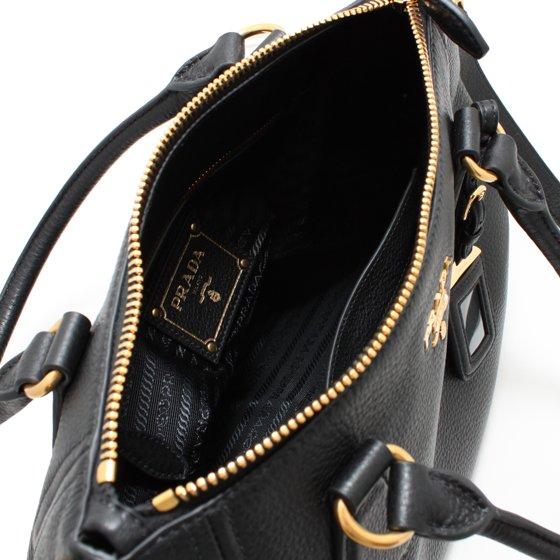 c10ba5d81d81 Prada 1BC032 Women s Vitello Phenix Leather Convertible Bag Black -  Walmart.com