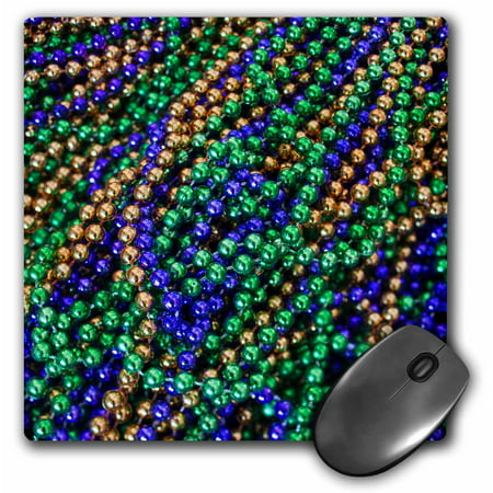 3dRose Louisiana, New Orleans, Market, Mardi Gras beads - US19 WBI0184 - Walter Bibikow, Mouse Pad, 8 by 8 inches