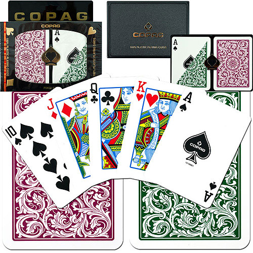 Trademark Poker Burgundy and Green Copag