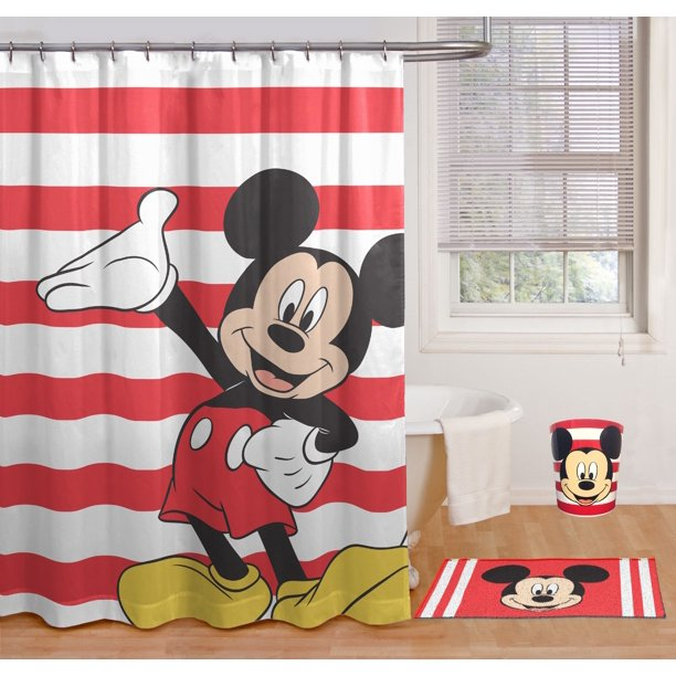 Mickey Mouse Classic Stripe 17pc Bath Set Walmart Com Walmart Com