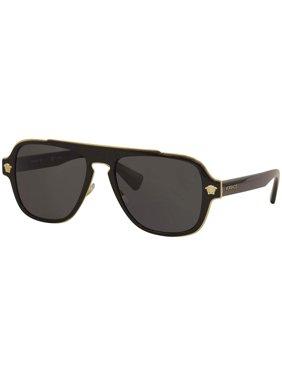 Versace Medusa Charm VE 2199 100281 Unisex  Aviator Sunglasses