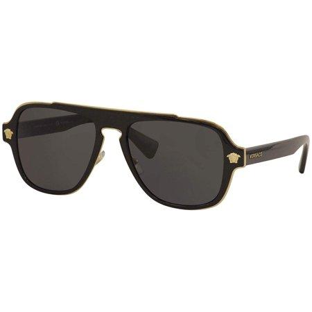 Cheap Aviator Sunglasses Bulk (Versace Medusa Charm VE 2199 100281 Unisex  Aviator)