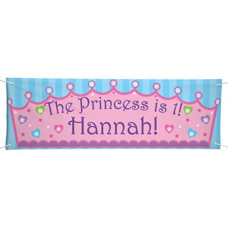Personalized Oversized Birthday Banner, Princess - Princess Birthday Banner