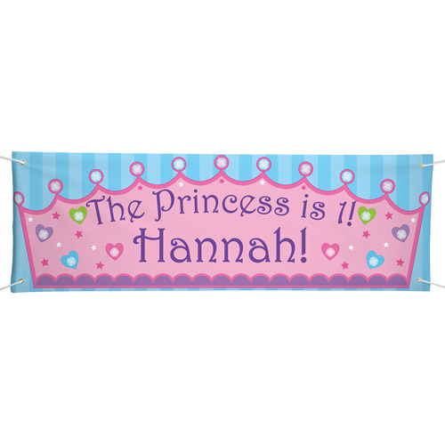 Personalized Oversized Birthday Banner, Princess