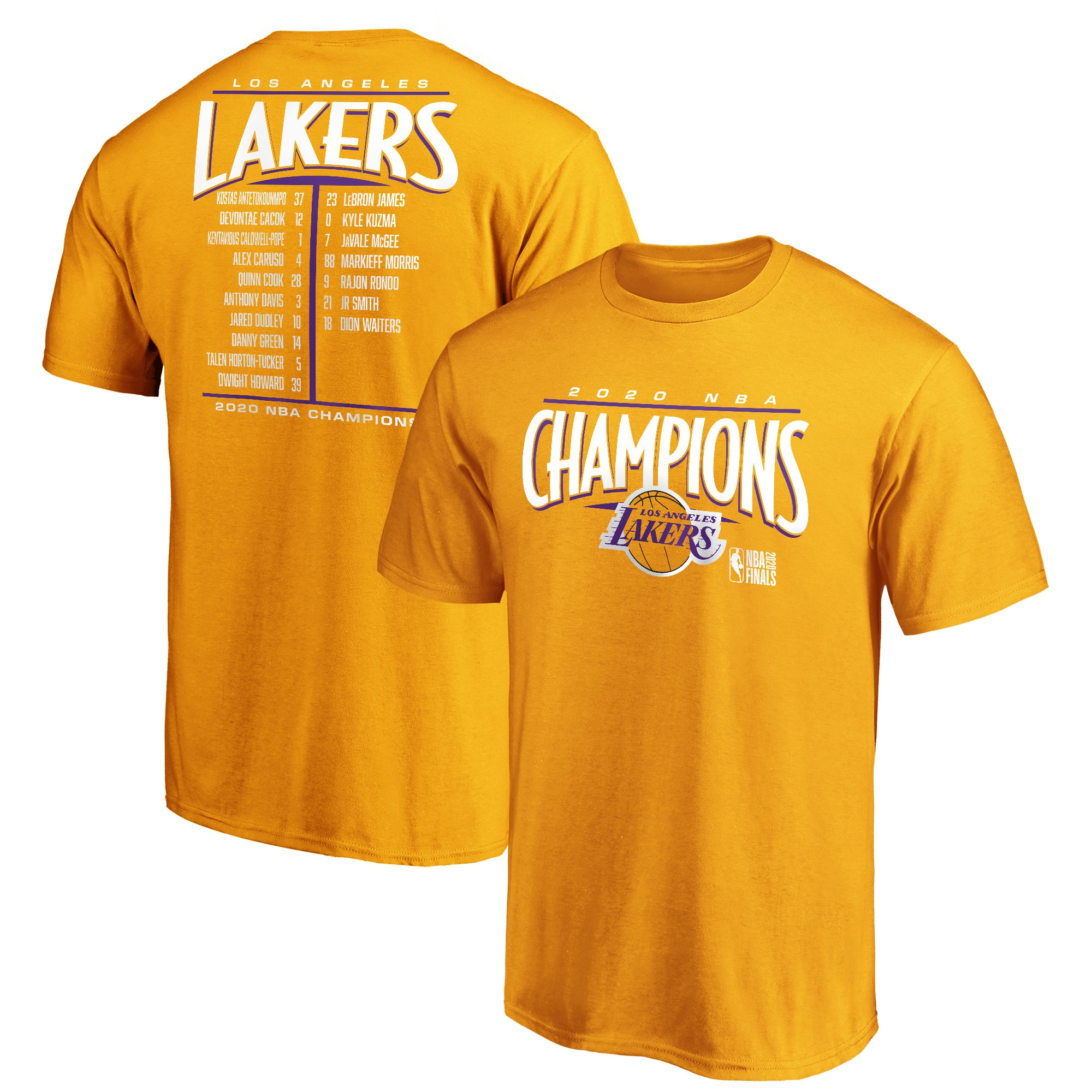 Los Angeles Lakers Fanatics Branded 2020 NBA Finals Champions Streaking ...