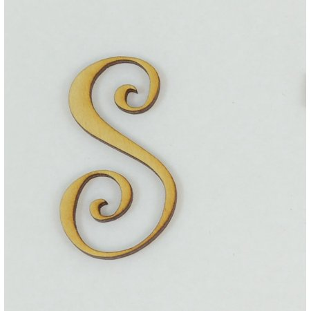 1 Pc, 5 Inch X 1/8 Inch Thick Wood Letters S In The Curlz Font Great For Craft Project & Different Decor ()