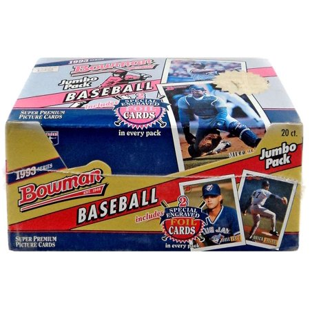 Mlb 1993 Bowman Baseball Cards Jumbo Box