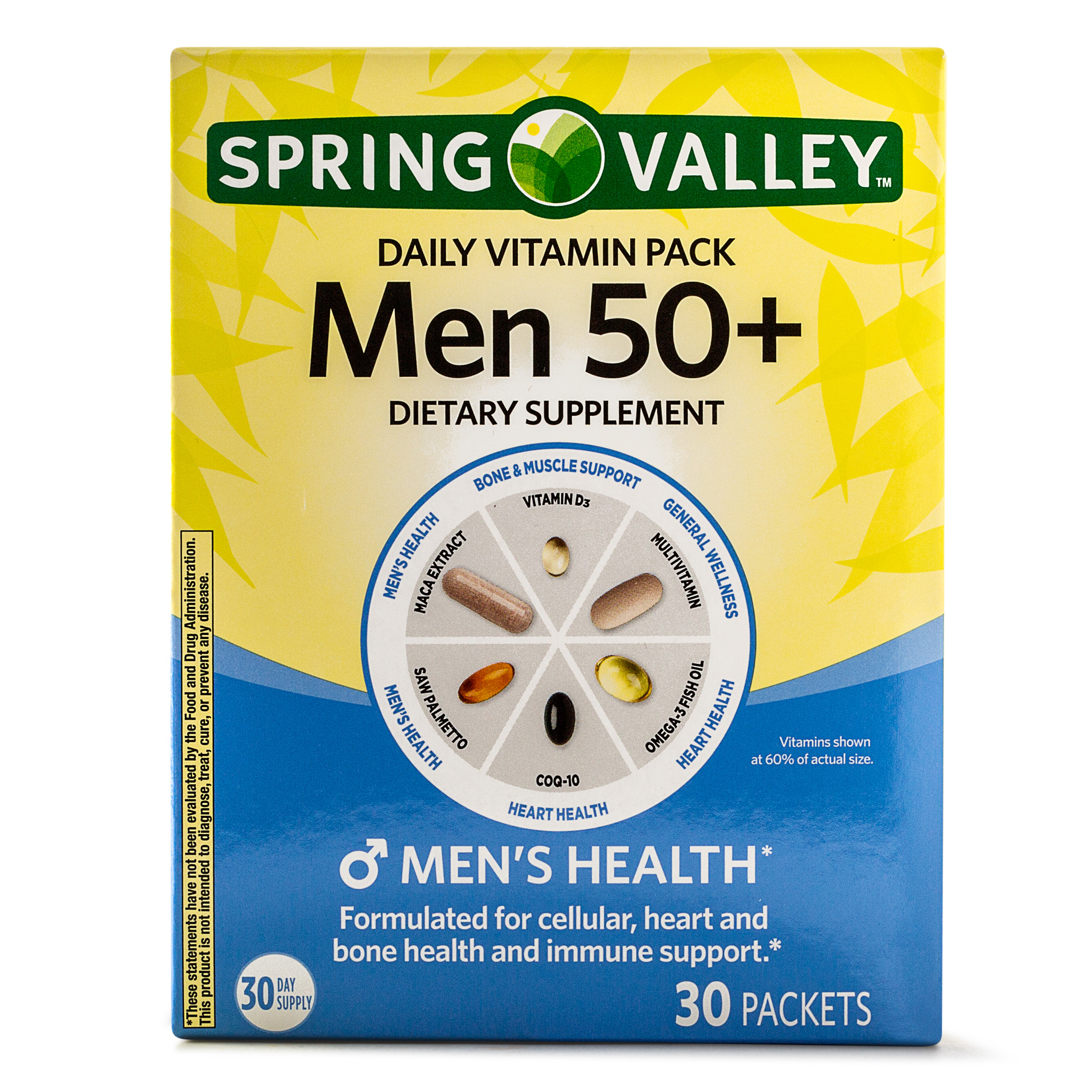 Spring Valley Men 50+ Daily Vitamin Packets, 30 Ct