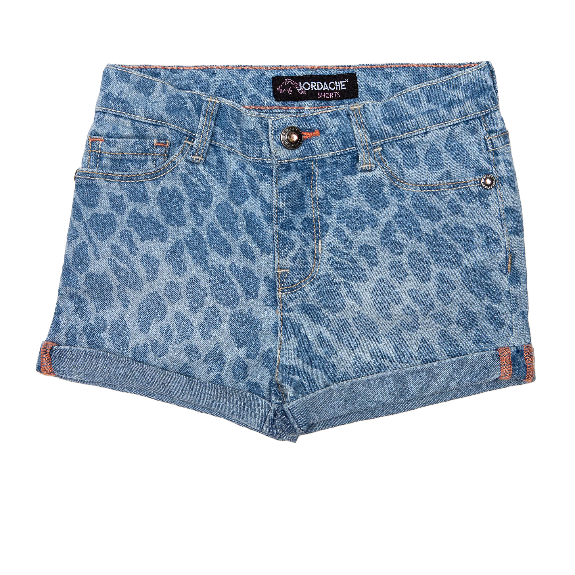 Jordache Baby Girls' 5 Pocket Denim Roll Cuff Short