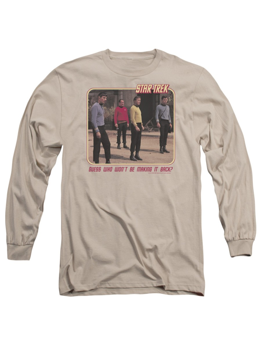 Star Trek Next Generation TV Series Red Shirt Blues Adult Long Sleeve T-Shirt
