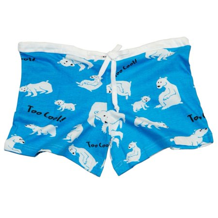 Polar Bear Too Cool Juniors Boxer Shorts