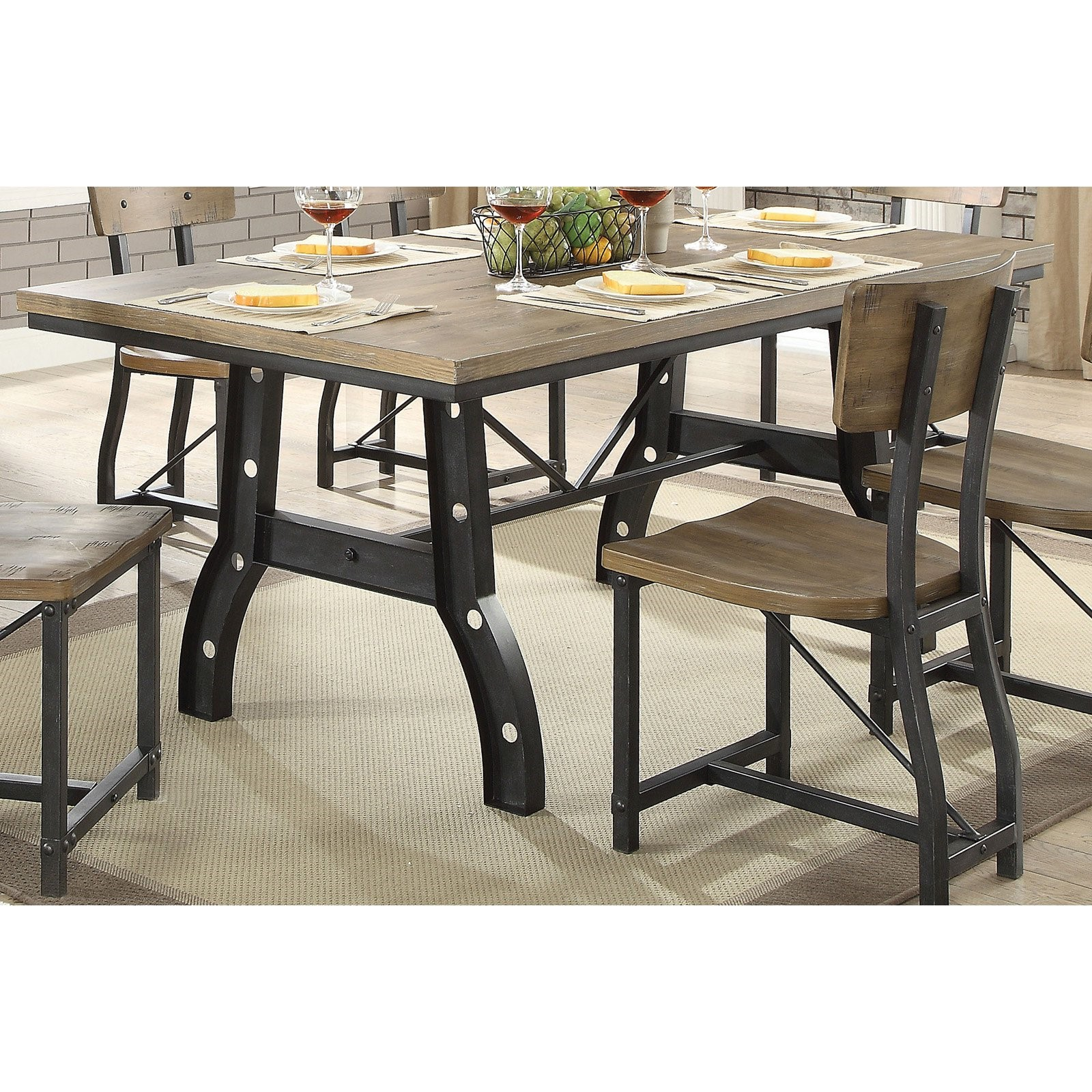 Furniture of America Drake Industrial Dining Table