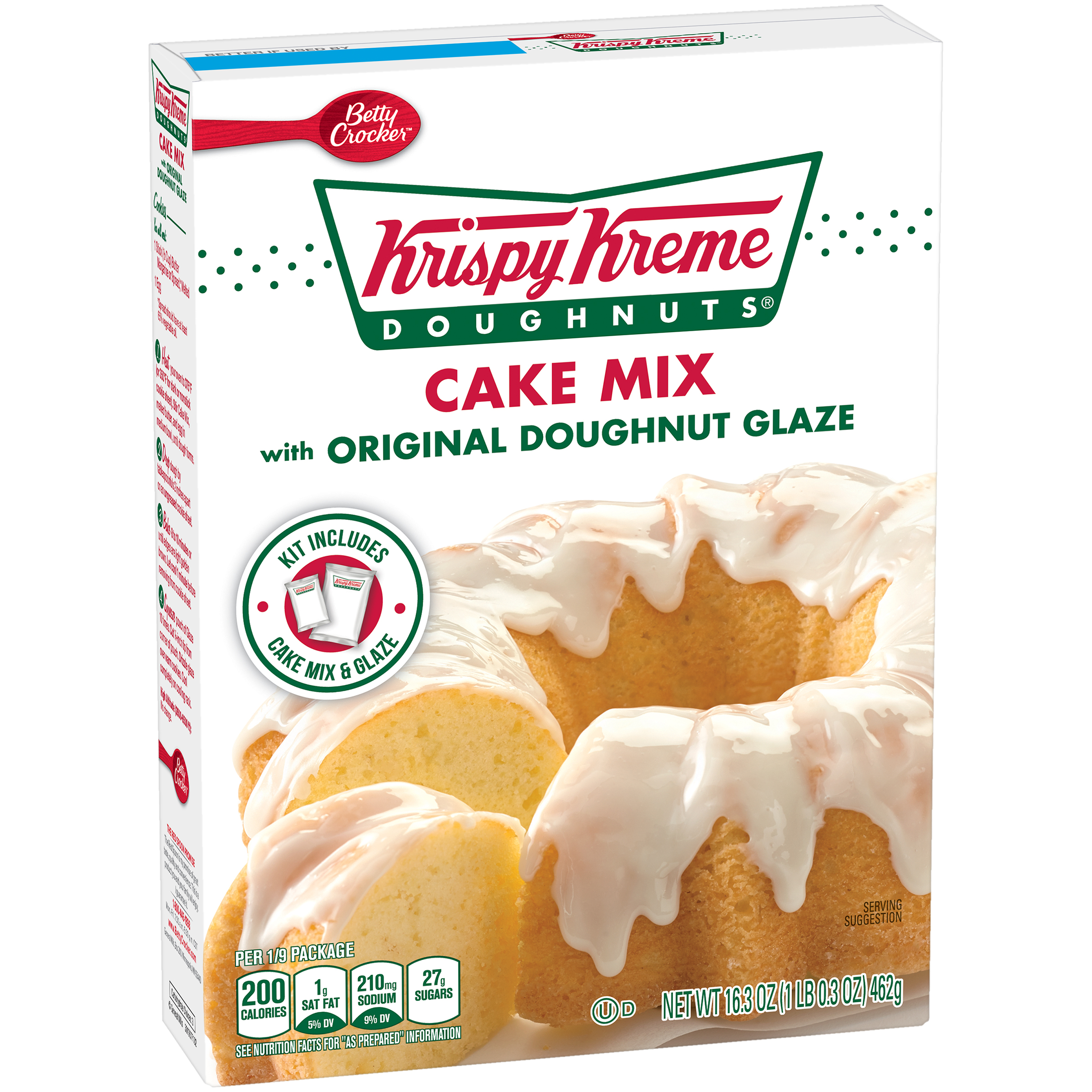 Betty Crocker�� Krispy Kreme Doughnuts�� Cake Mix with Original Doughnut Glaze 16.3 oz. Box