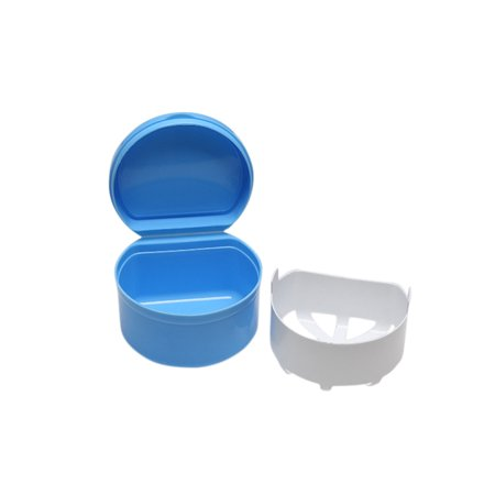 EWAVINC Denture Box Case Denture Bath Containers Dental False Teeth Storage With Lid ()