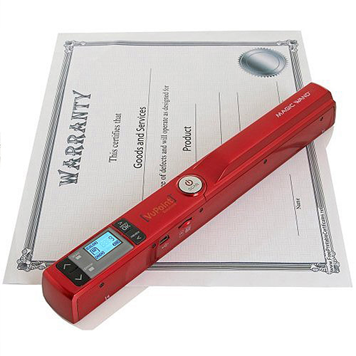 VuPoint Solutions PDS-ST441R-VP Magic Wand Handheld Scanner, Red