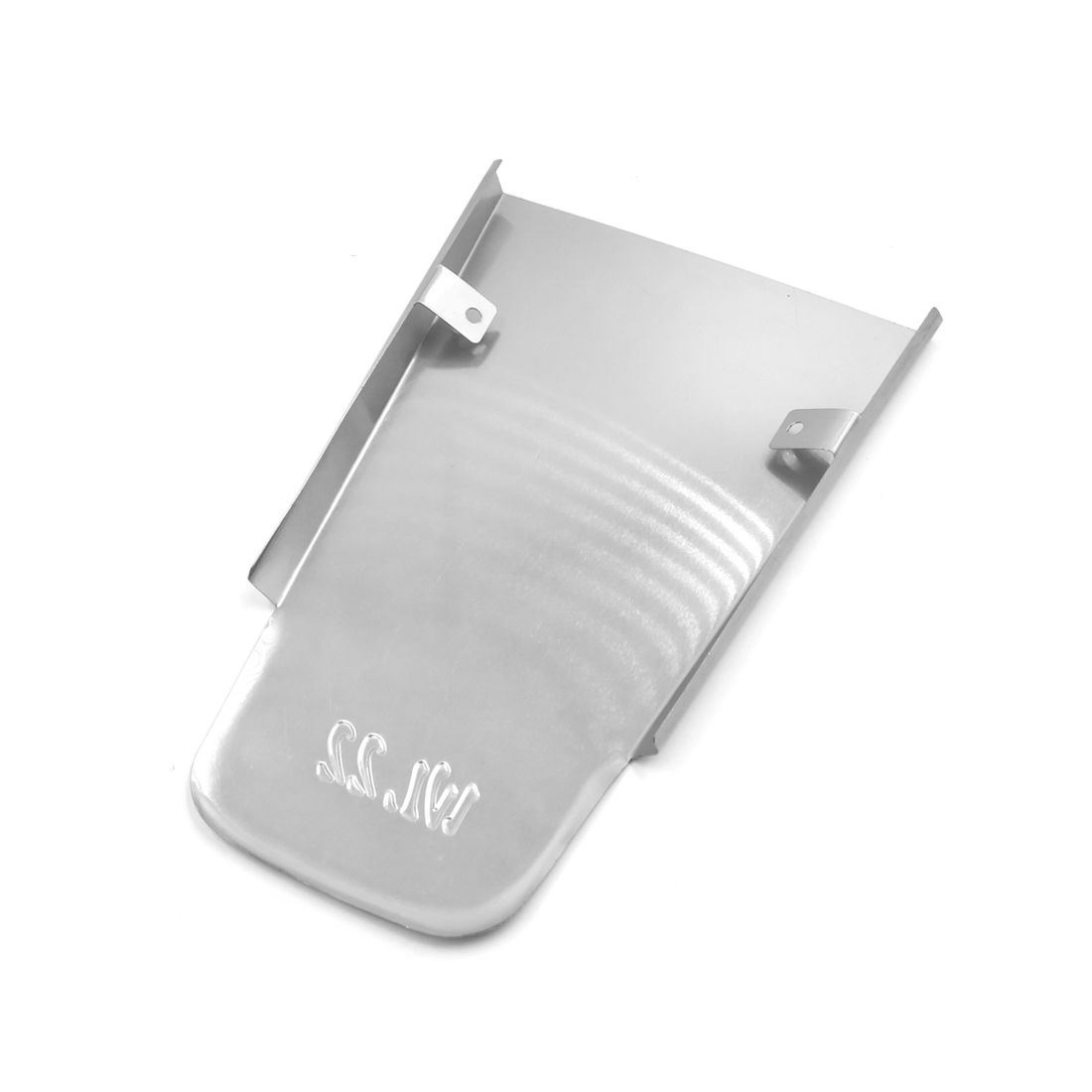 Silver Tone Aluminum Alloy Motorcycle Rear Fender Mudguard Plate - image 1 of 3