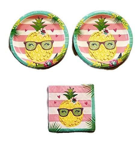 24 Aloha Party Bundle 9 Plates